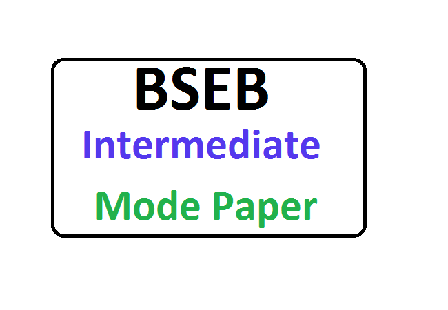 Bihar Board 12th Model Paper 2021