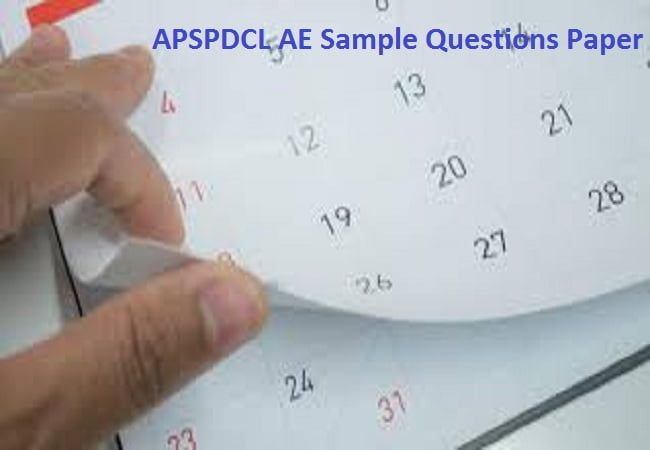 APSPDCL AE Sample Question Paper 2019