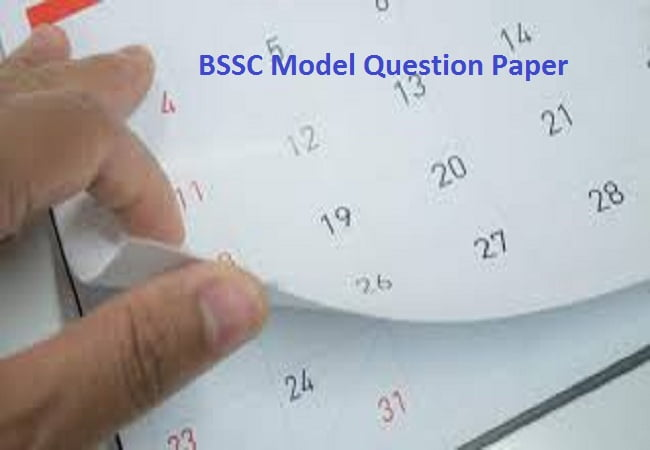 BSSC Model Question Paper Download 2019