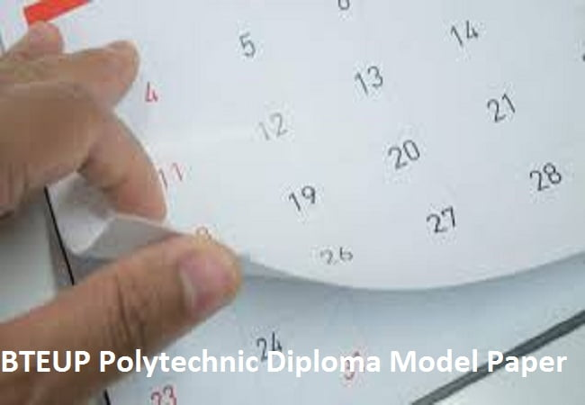 BTEUP Polytechnic Diploma Model Papers