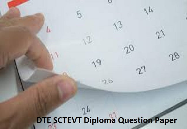 DTE SCTEVT Diploma Question Paper