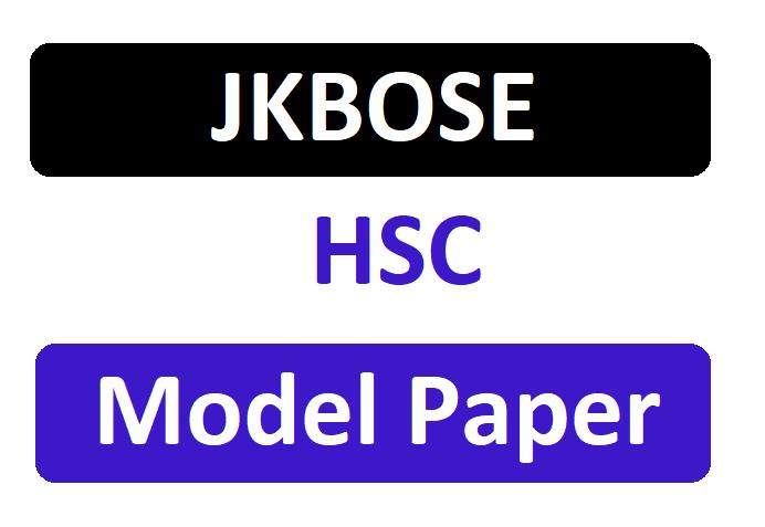 JKBOSE HSC Model Paper 2020 J&K 12th Importance Sample Question Paper Download