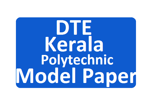 Kerala Diploma Model Papers