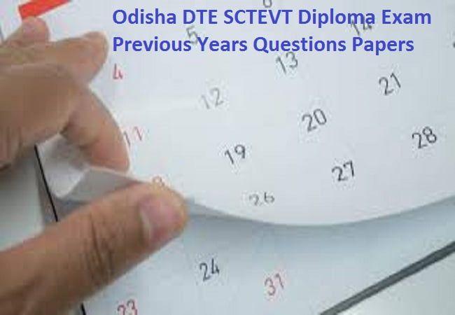 Odisha DTE SCTEVT Diploma Exam Previous Years Questions Papers