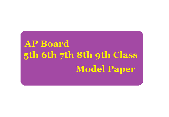 AP 7th, 8th, 9th Model Question Paper 2020 SA1, SA2, SA3, SA4