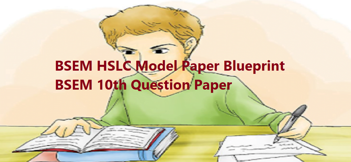 BSEM HSLC 2020 Model Questions Papers Manipur 10th Class X Sample Questions Papers