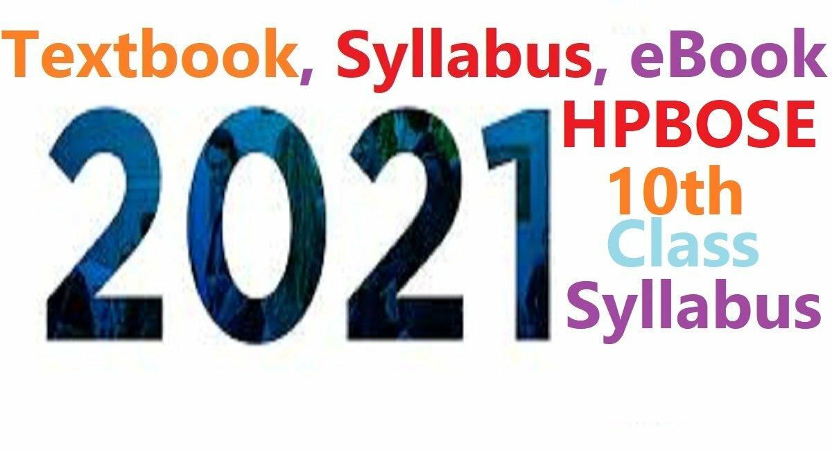 HP 10th Syllabus 2021 HP Matric Books 2021 HP X Textbook 2021