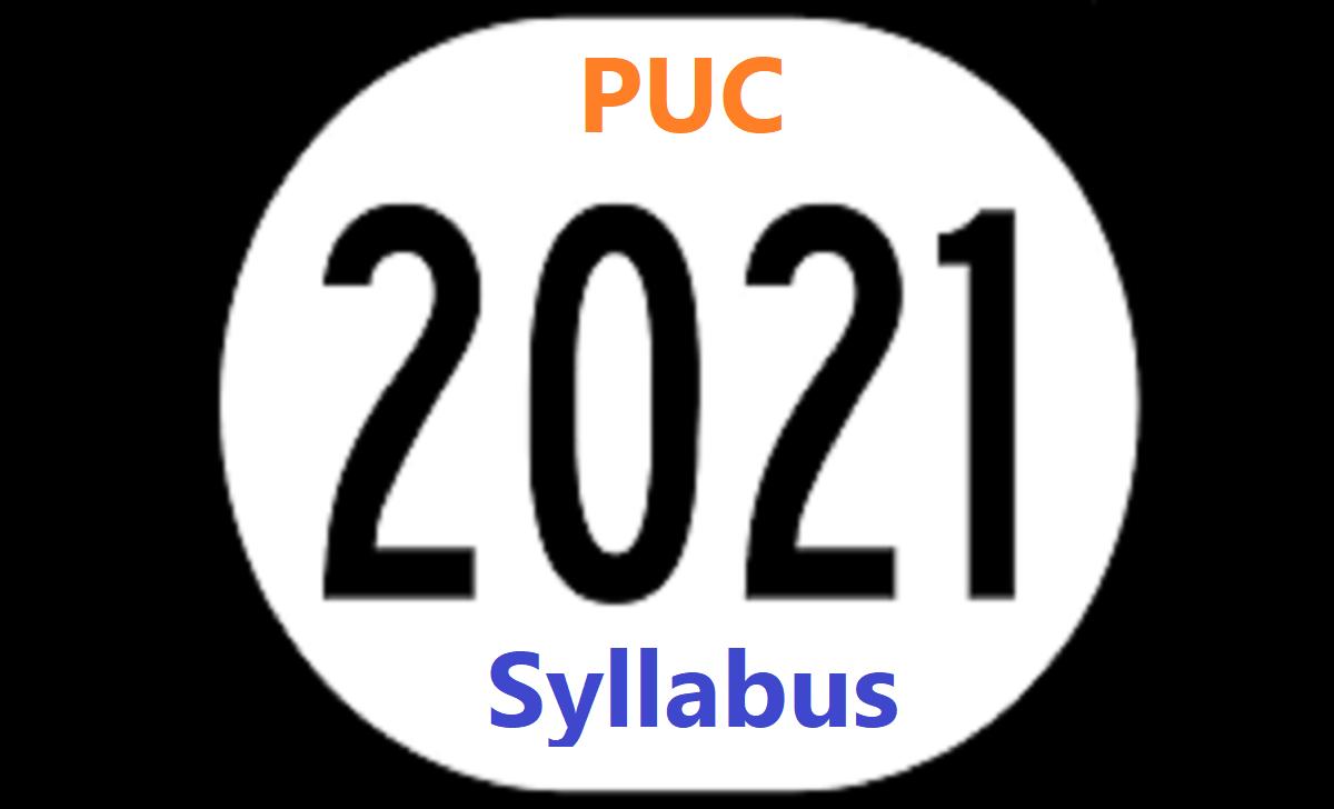 PUC Syllabus 2021 PUC Books 2021 PUC Textbook 2021