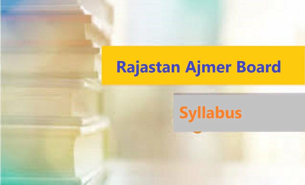 Raj Board 10th Syllabus 2021 BSER 10th Books 2021 RBSE X Textbook 2021
