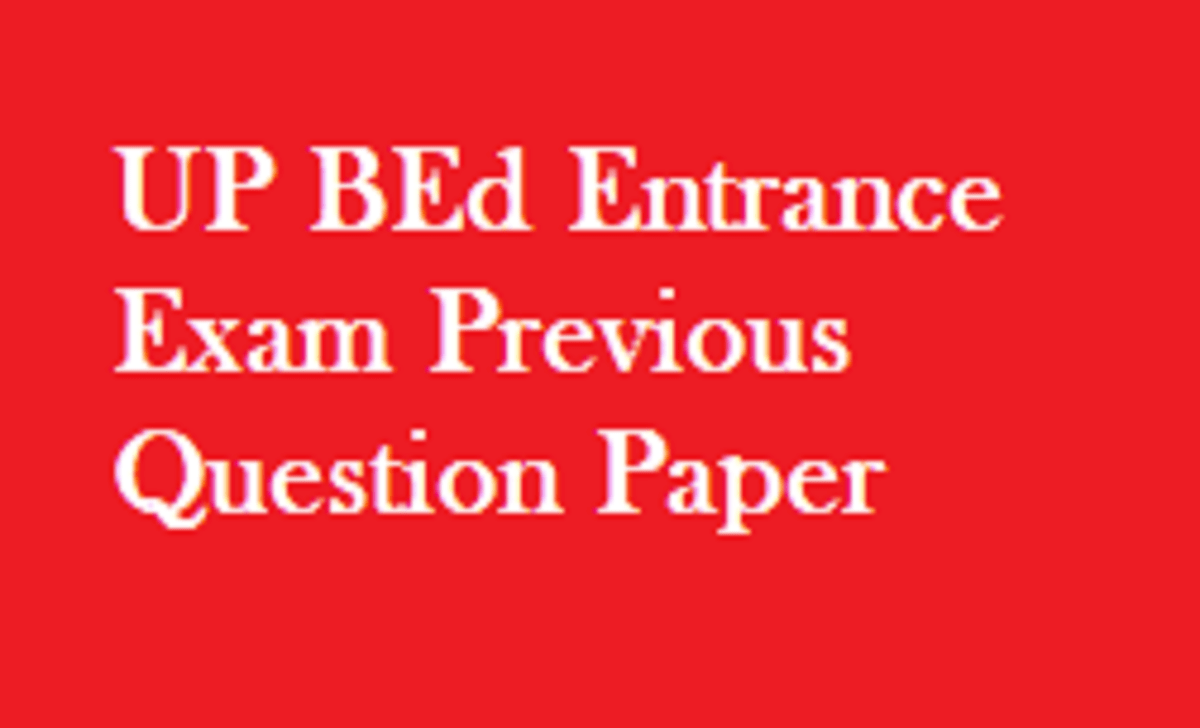 UP BEd Entrance Exam Previous Question Paper 2020, UP BEd Model Paper 2020 Download