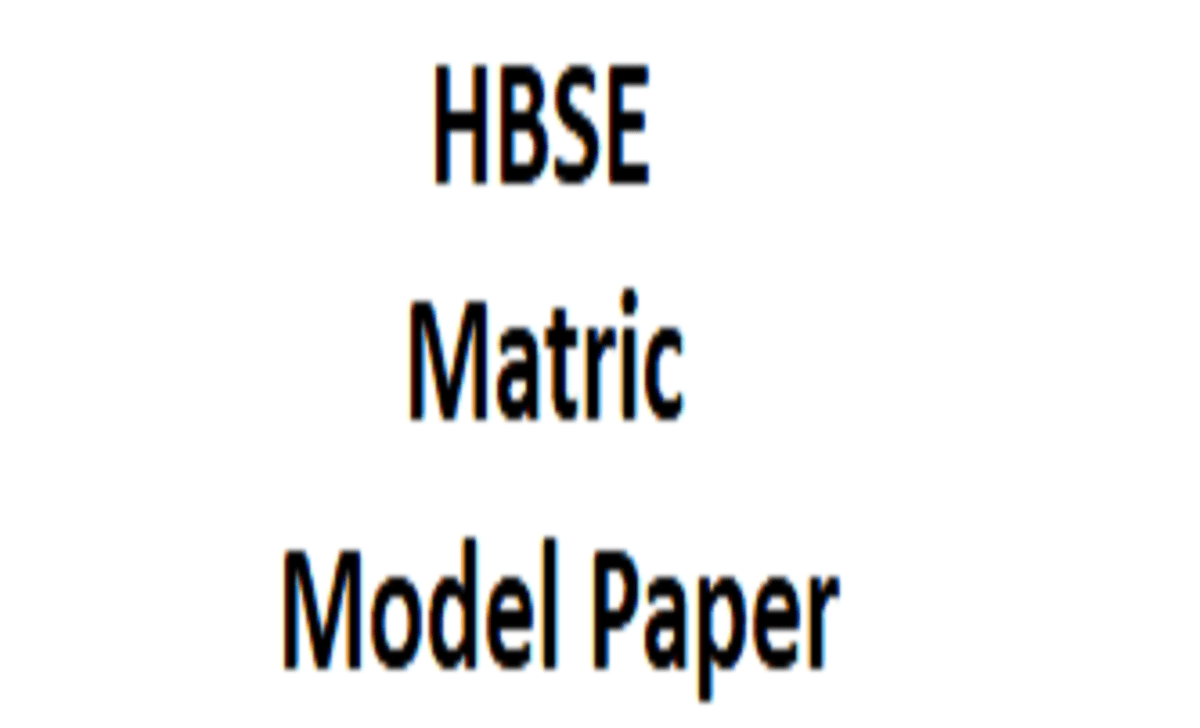 HBSE 10th Model Paper 2021 Haryana Class 10th Blueprint 2021 BSEH X Important Question 2021